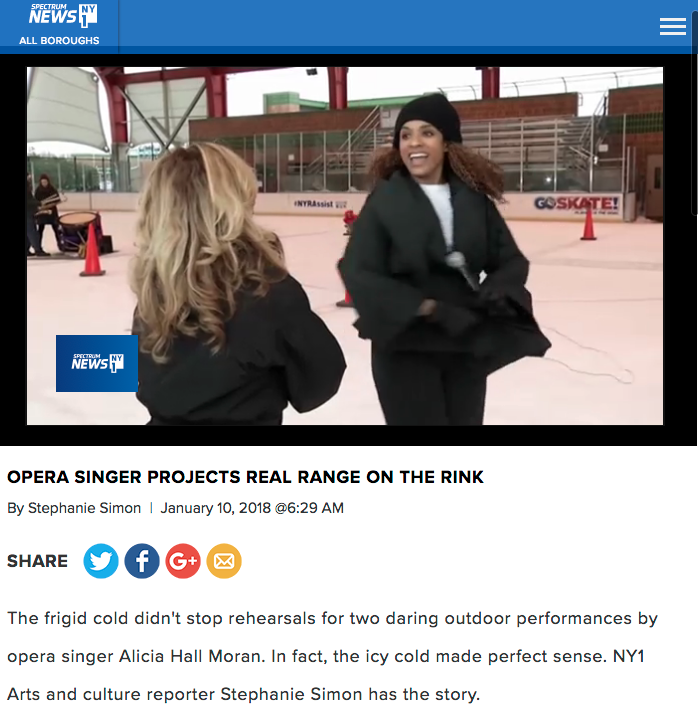 OPERA SINGER PROJECTS REAL RANGE ON THE RINK, Watch Video